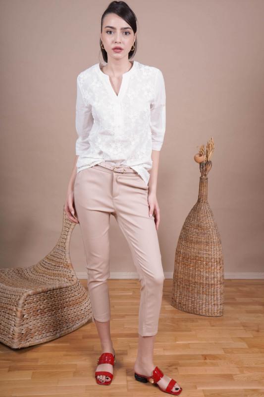 Pantaloni dama cropp H9135 Bej