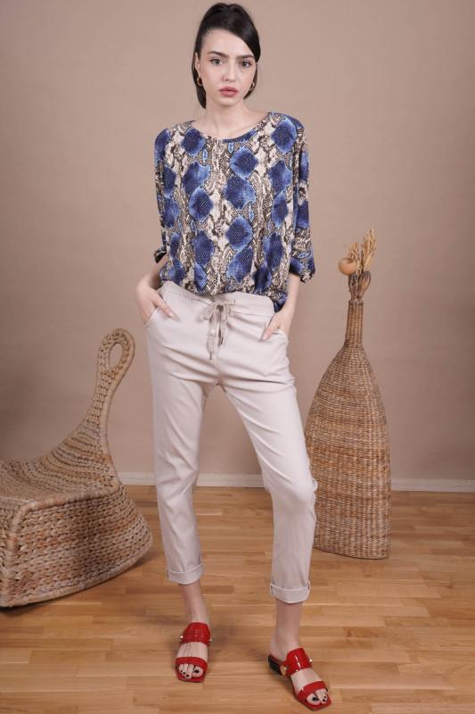 Pantaloni dama din viscoza P2245 Bej