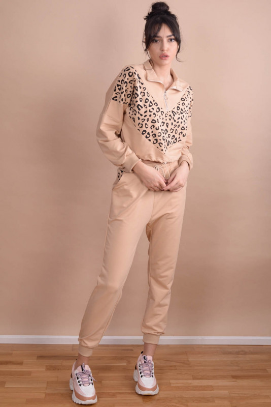 Trening dama cu animal print CL81 Bej