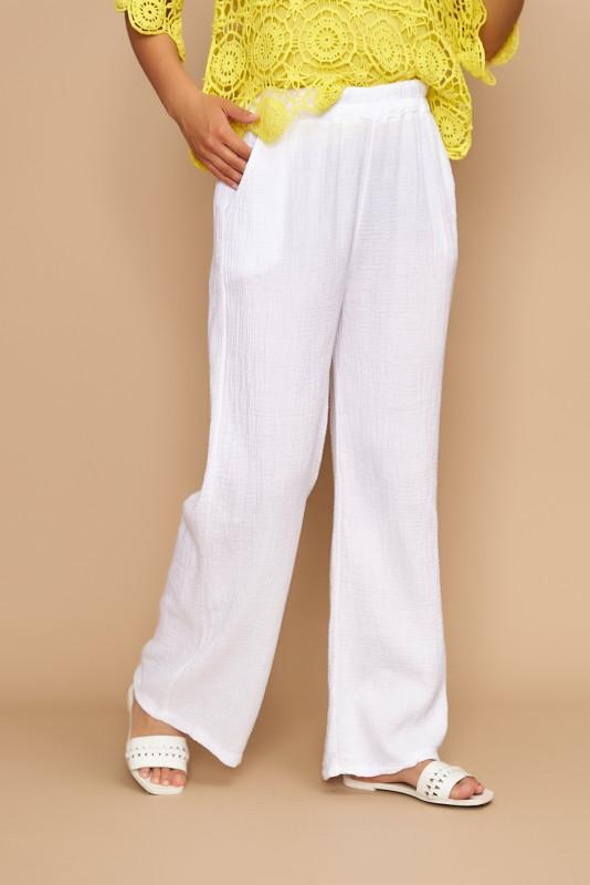 Pantaloni dama de vara largi1929 Albi