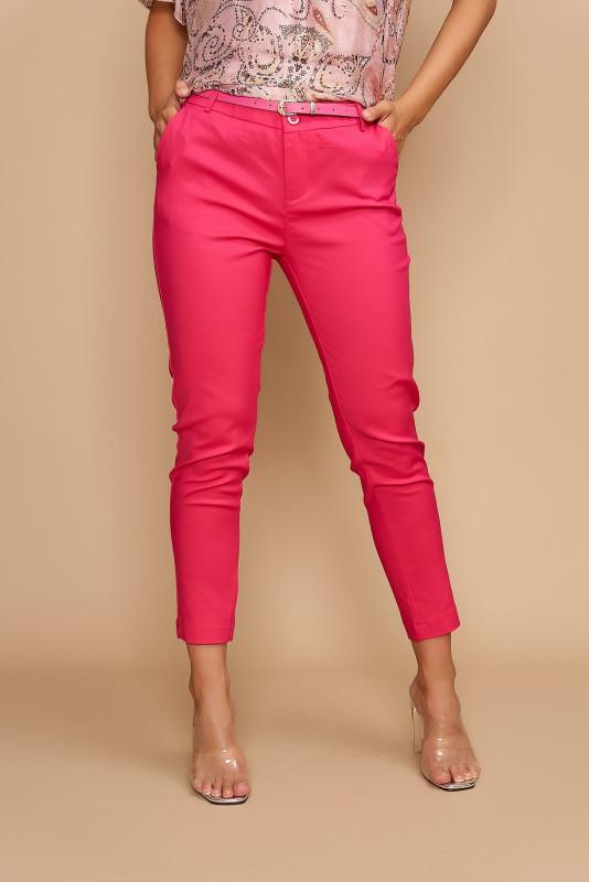 Pantaloni dama office cropp L020-B Ciclame