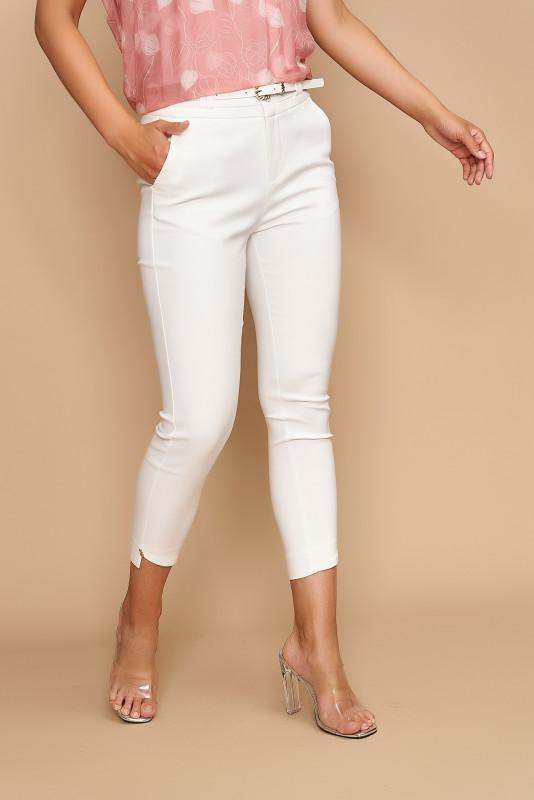 Pantaloni dama cropp H9135 Albi