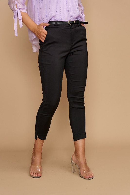 Pantaloni dama cropp H9135 Negri
