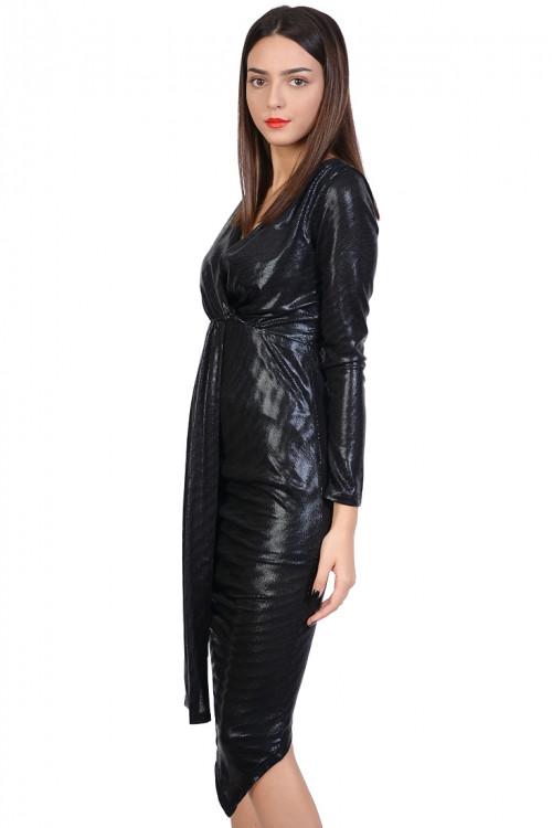 Rochie de seara negra asimetrica 2356 NG