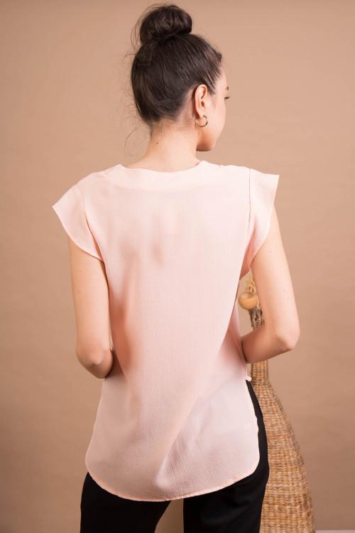 Bluza cu decolteu B266 Roz