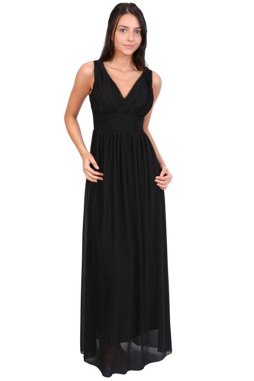 Rochie de ocazie neagra cu bretele 3945 N