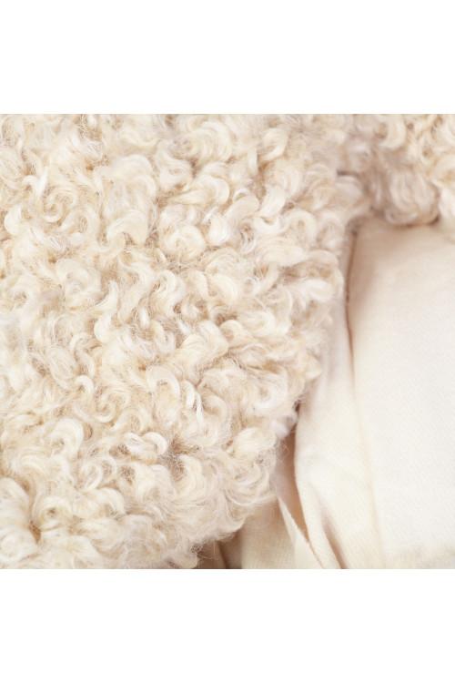 Esarfa cu blana ecologica creata ecru 48187 E