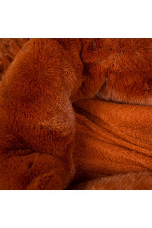 Esarfa camel cu blana ecologica 48185 C