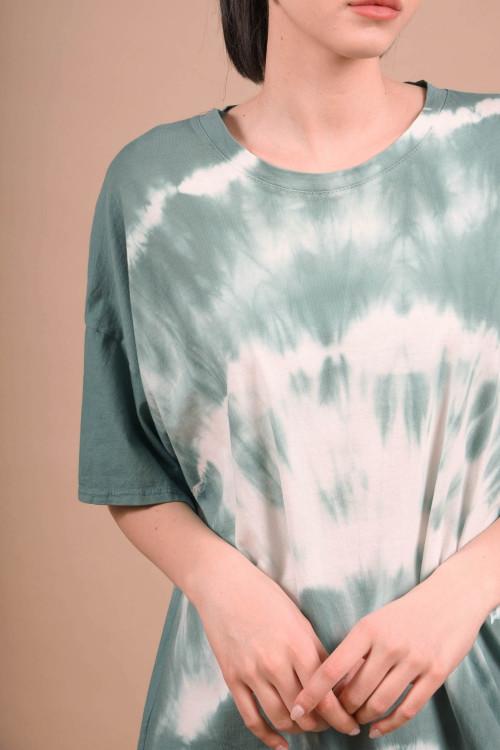 Tunica cu imprimeu tie-dye ALLEN Verde