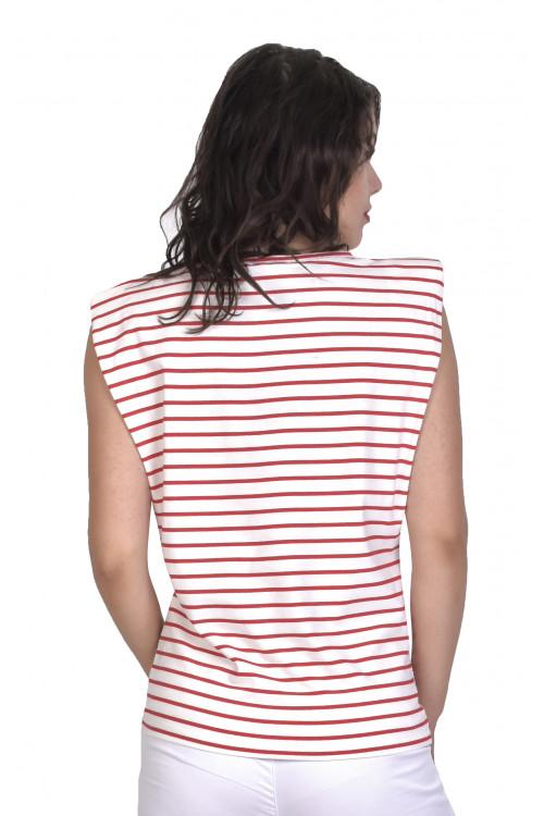 Tricou dama cu dungi T267 R