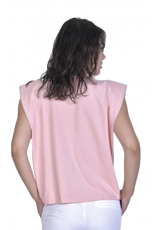 Tricou dama roz uni 1174 R