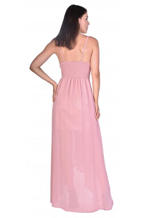 Rochie de ocazie roz petrecuta R1328 RI