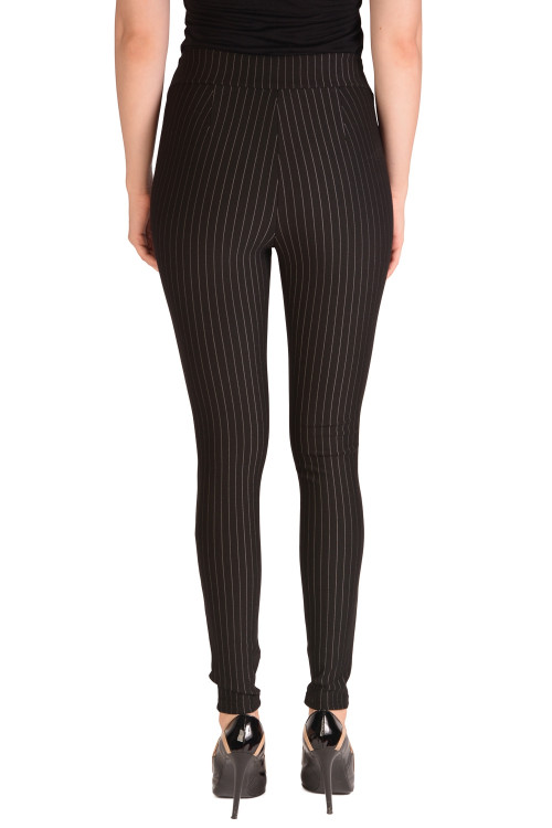 Pantaloni dama skinny cu dungi H287