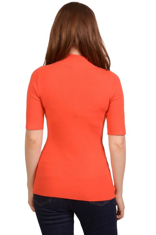 Pulover orange cu maneca scurta 211 OR