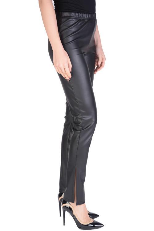Pantaloni dama negri cu slituri laterale 010 NG