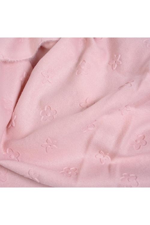 Esarfa roz pudra cu franjuri 19231 R