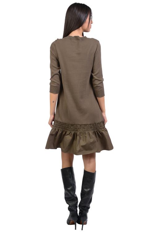 Rochie kaki tricotata 55534 K