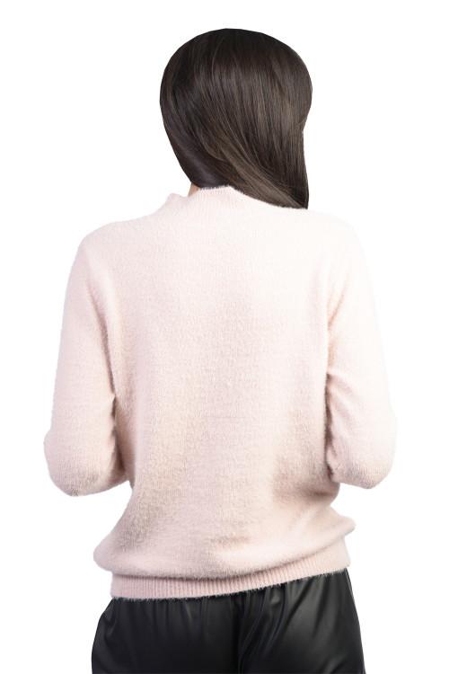 Pulover dama roz pufos JP3660 R
