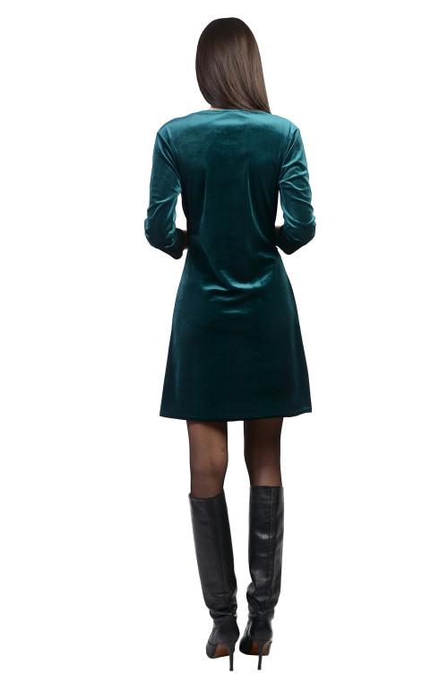 Rochie verde drapata 2060 V