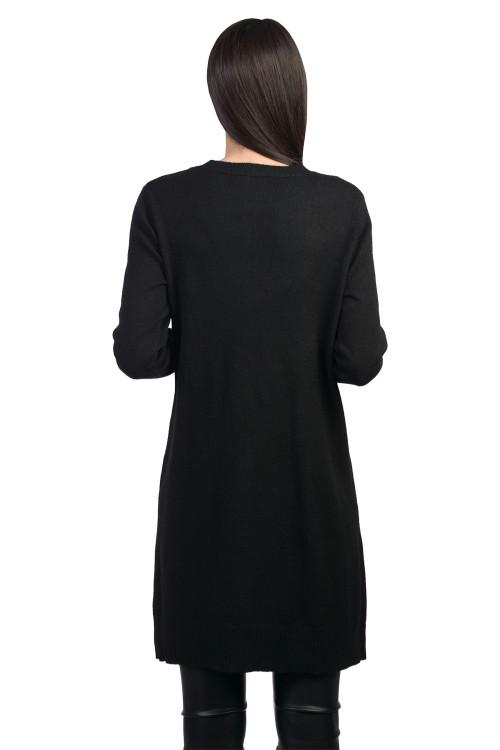 Pulover negru cu buzunare B1121 NG