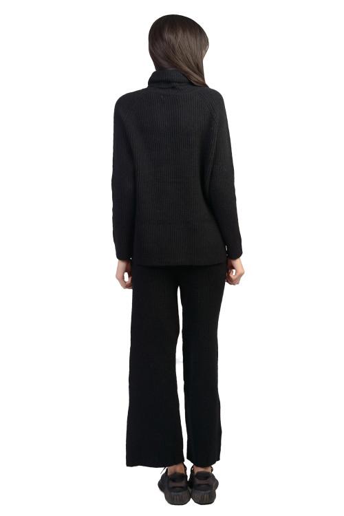 Set dama negru tricotat LM0209 NG