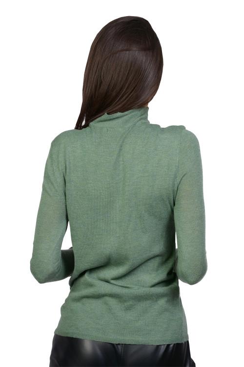 Pulover dama verde tip maleta 55283 V