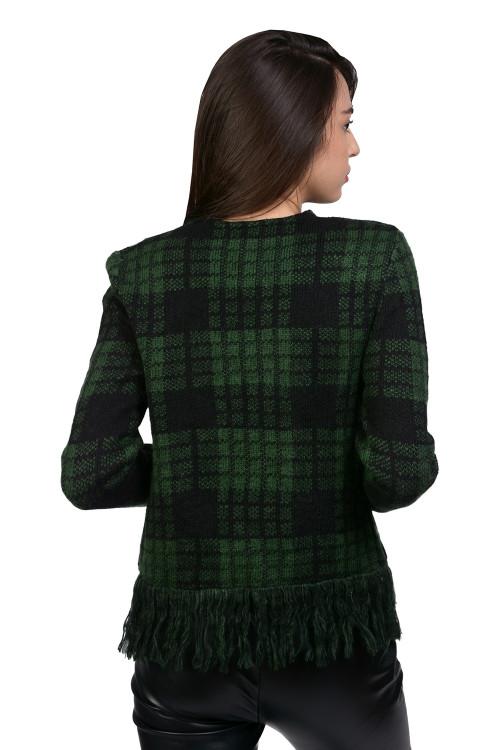Jacheta tricotata verde ecosez 35075 V