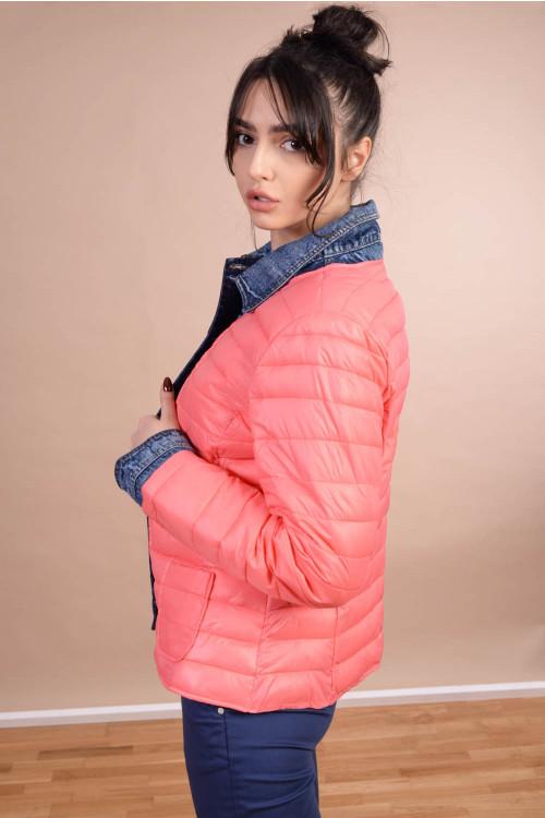 Jacheta cu insertie blugi AT8109GT Corai