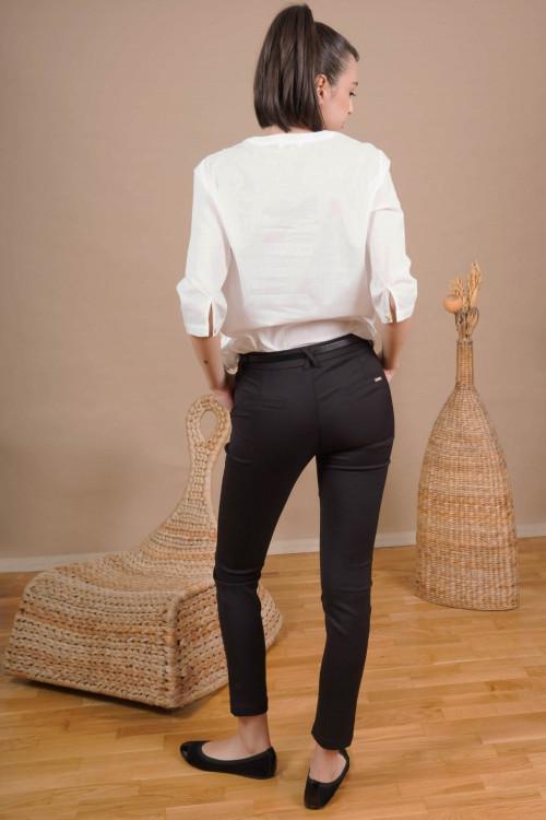 Pantaloni dama office L001 Negri