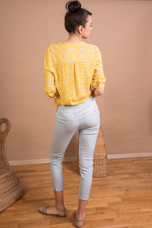 Pantaloni dama cu buzunare L016 Bleu