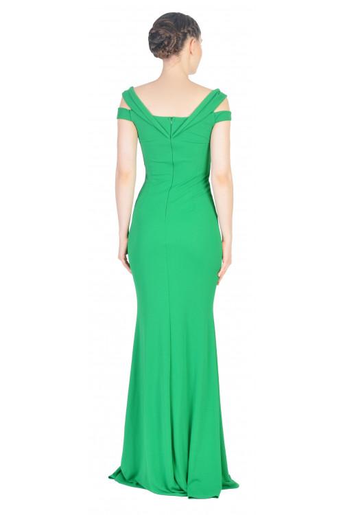 Rochie de ocazie verde tip sirena 8642 V