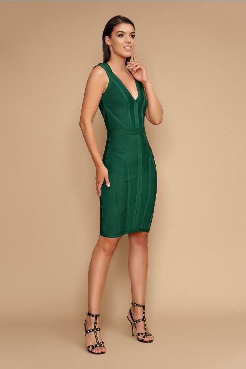 Rochie de seara elastica 607005 Verde