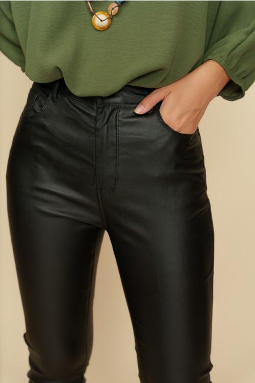 Pantaloni dama peliculizati S513-1 Negru