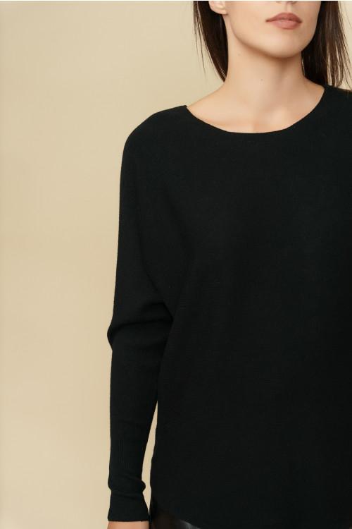 Pulover femei cu striatii 5102 Negru
