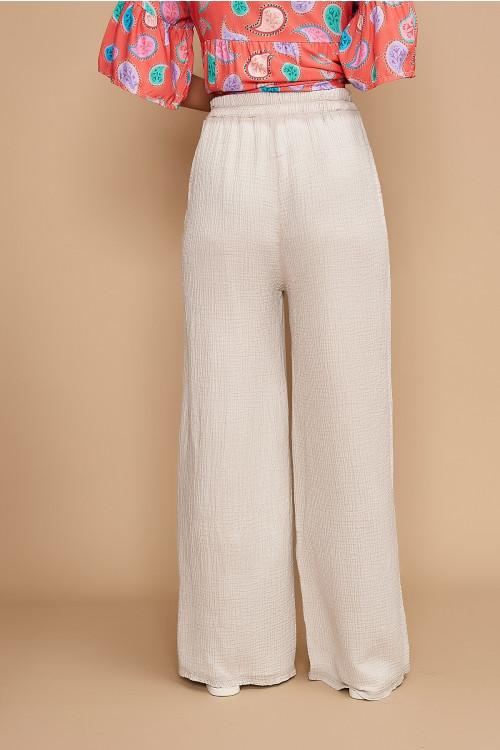 Pantaloni de vara largi 1929 Bej
