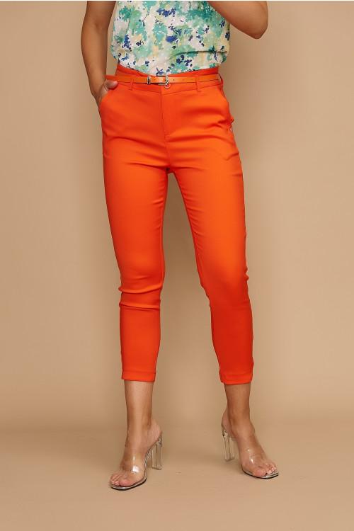 Pantaloni dama de vara H9136 Orange