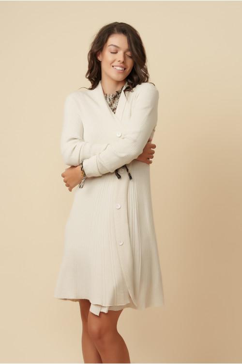 Jacheta pulover dama midi A7200 Ecru