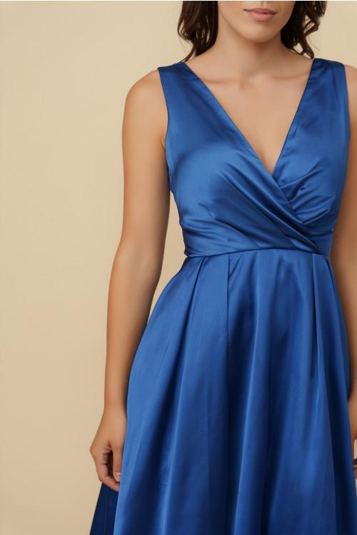 Rochie de seara in clos HM2288 Albastru