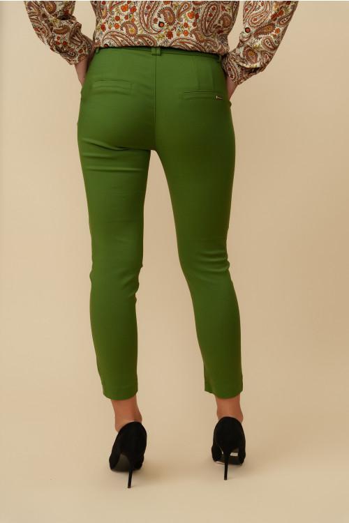 Pantaloni dama cropp 8707 Verde