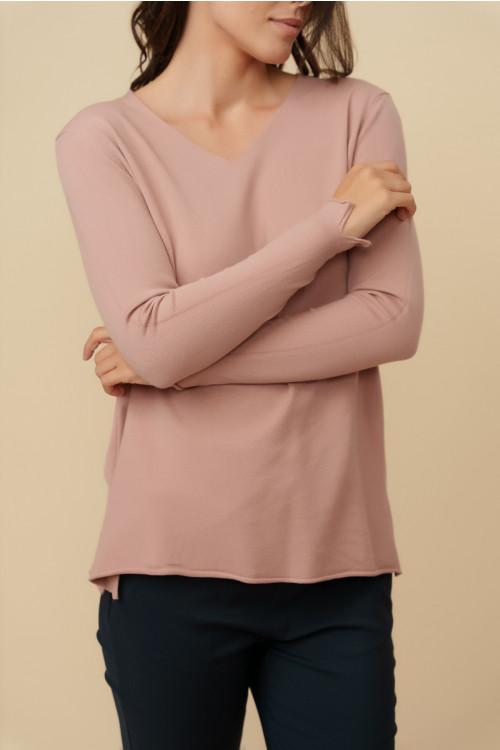 Pulover dama cu anchior X5102 Roz