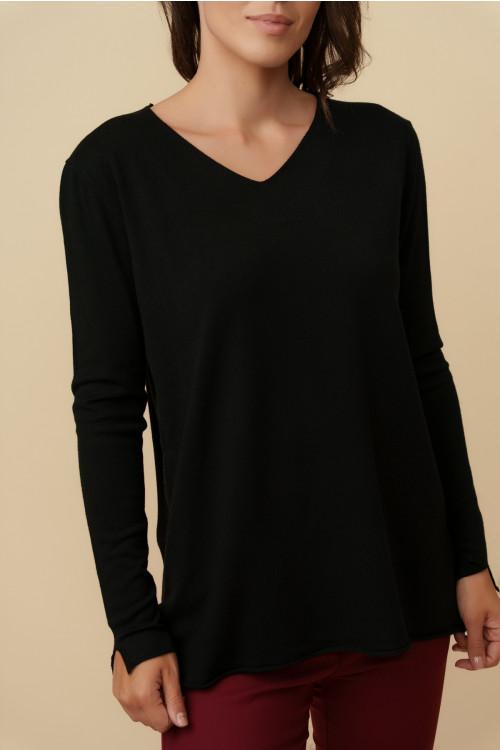 Pulover dama cu anchior X5102 Negru