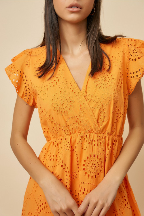 Rochie de vara cu coada 201071 Orange