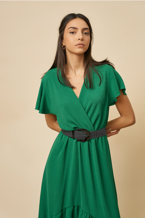 Rochie eleganta cu coada B2206 Verde