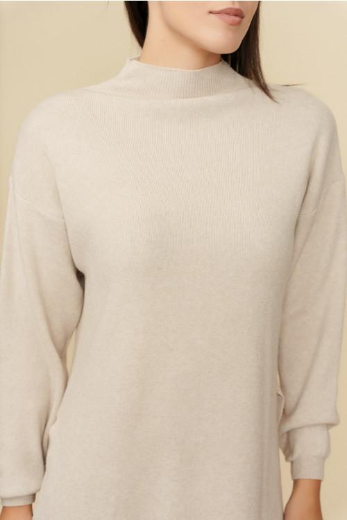 Compleu dama tricotat S9090 Bej
