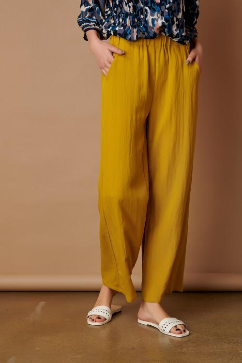 Pantaloni dama lejeri 112775 Galben