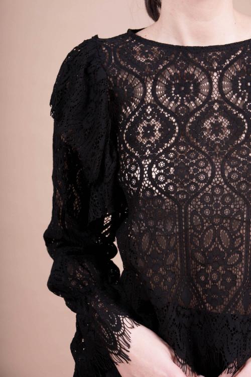 Bluza eleganta din dantela florala 55109
