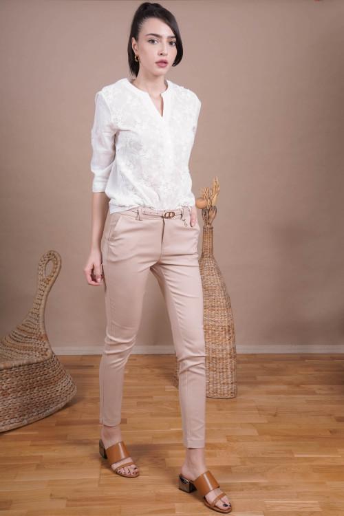 Pantaloni dama office L001 Bej