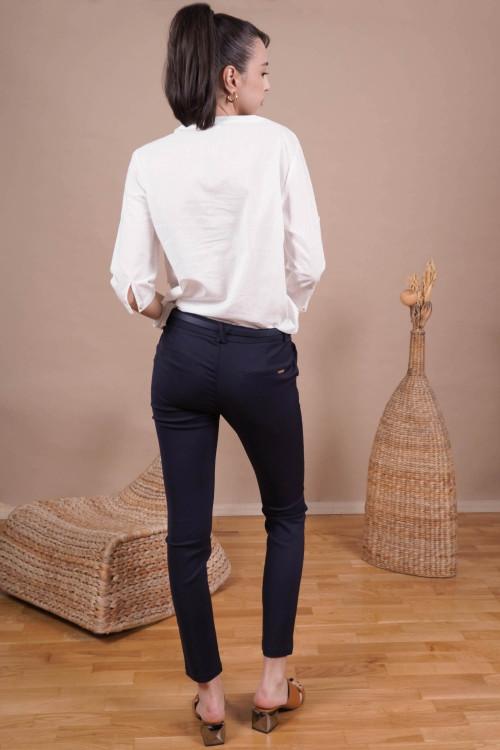 Pantaloni dama office L001 Bleumarin